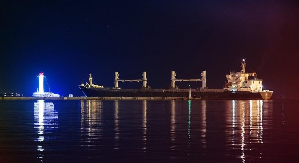 Воронцовский маяк ночью