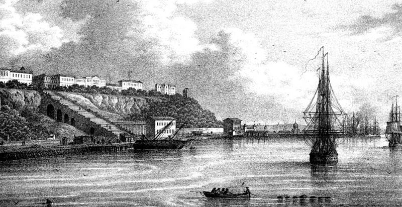 Одесский порт в середине 19в.
