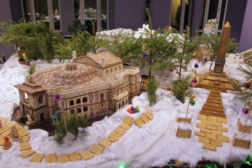 Выставка пряничных домиков в Одессе