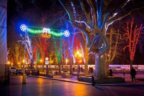Новогодний Приморский бульвар