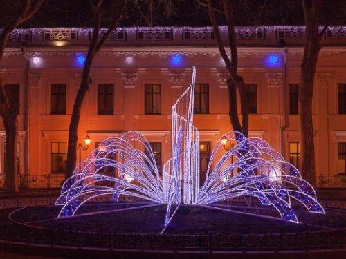 световой фонтан