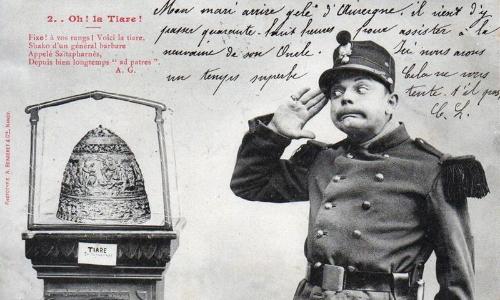 Шуточные фотографии на тему тиары- начало ХХ века