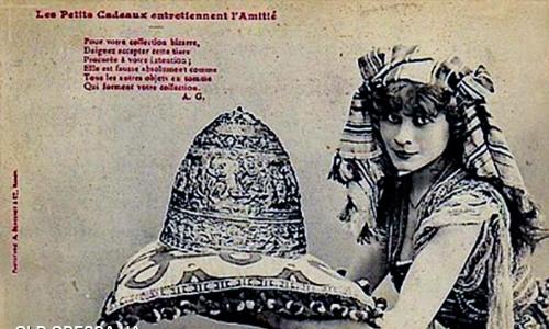 Шуточные фотографии на тему тиары - начало ХХ века