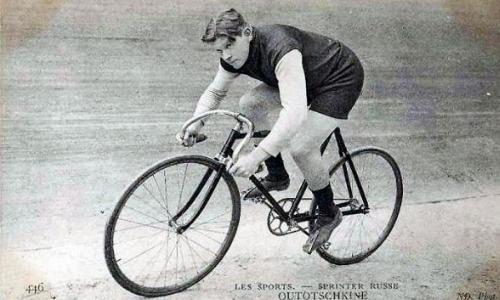 Уточкин на велотреке
